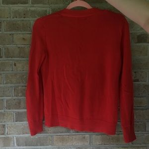 GAP Sweaters - Red Gap Buttoned Cardigan
